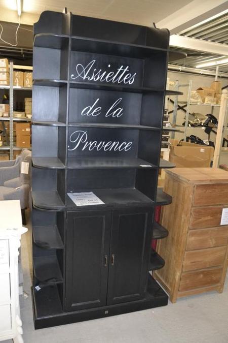 kast riviera maison assiettes da la provence zwart ca 40x110x235 cm