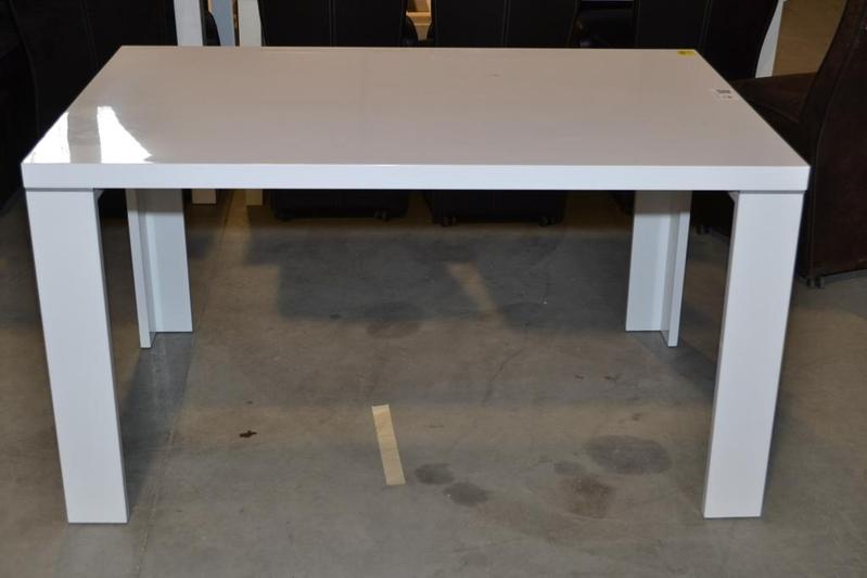 Eetkamertafel, design, hoogglans wit, afmeting lxb ca. 140x90 cm ...