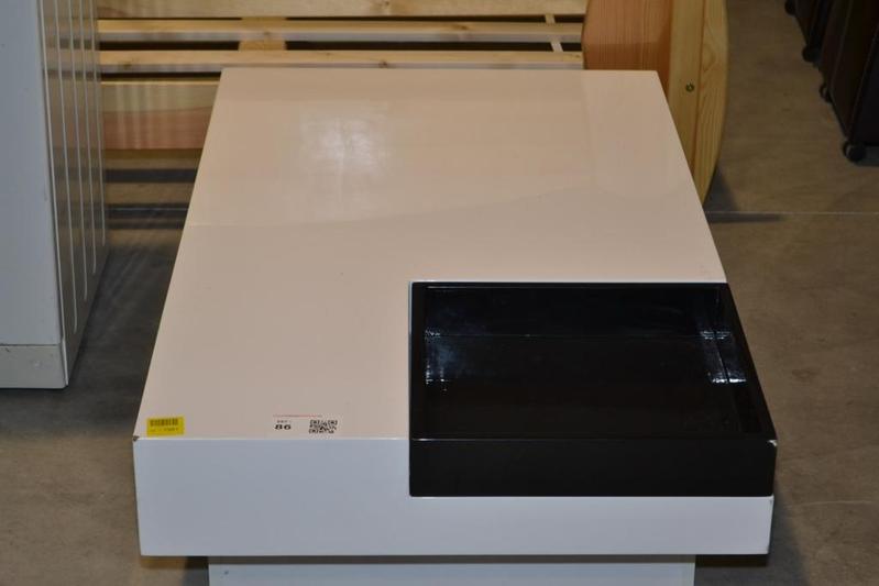 Salon Tafel Wit : Salontafel hoogglans wit met inzet dienblad nieuw