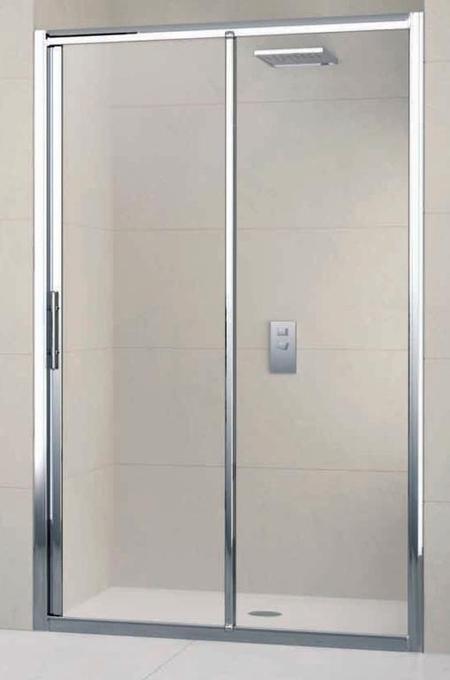 Douchedeur In Glas.Douchedeur Lunes 2p132 1b Van 132 Tot 138 Cm Instelbaar Chroom Helder Glas