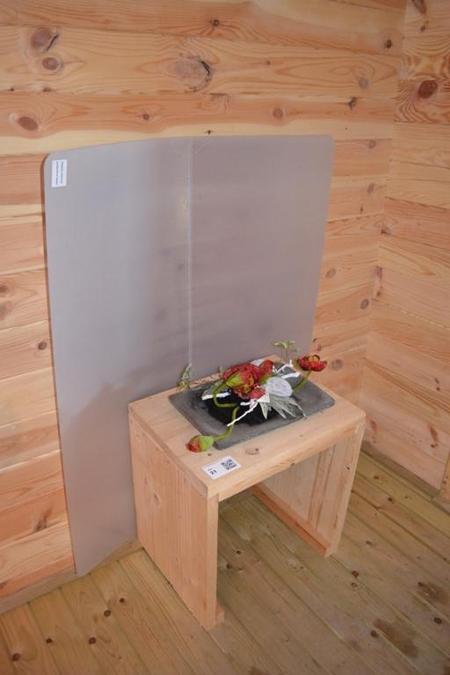 Bijzettafel steigerhout incl bloemstuk en for Bijzettafel steigerhout