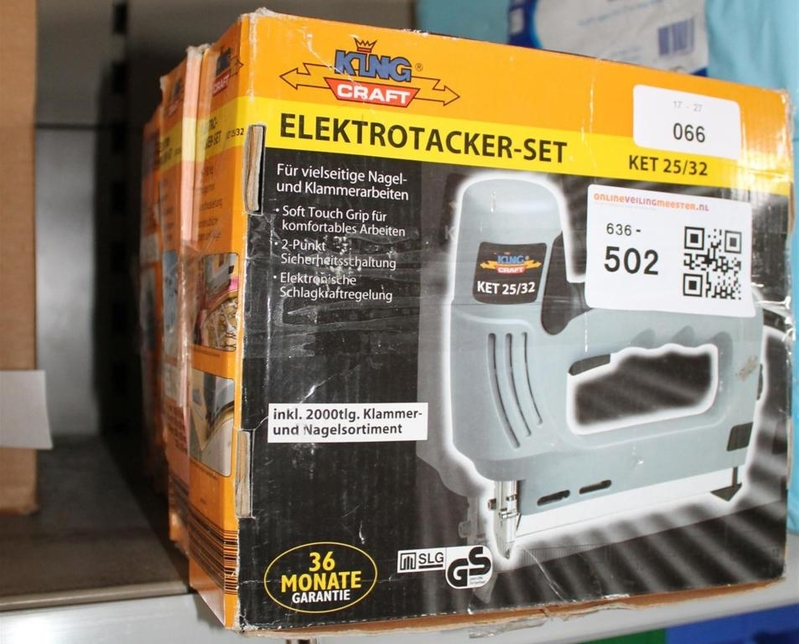 5x tacker elektrisch let op retourgoederen. Black Bedroom Furniture Sets. Home Design Ideas