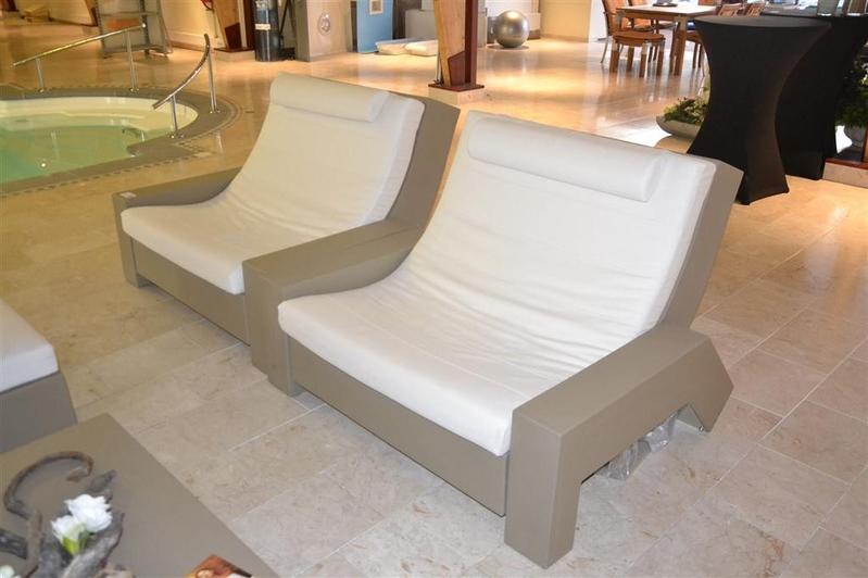 Design Stoel Lounge.2x Lounge Stoel Sifas Creation Kunststof Voorzien Van Kussens