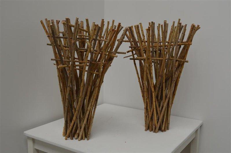 4x decoratie hout hoogte ca 60 cm for Vensterbank decoratie hout