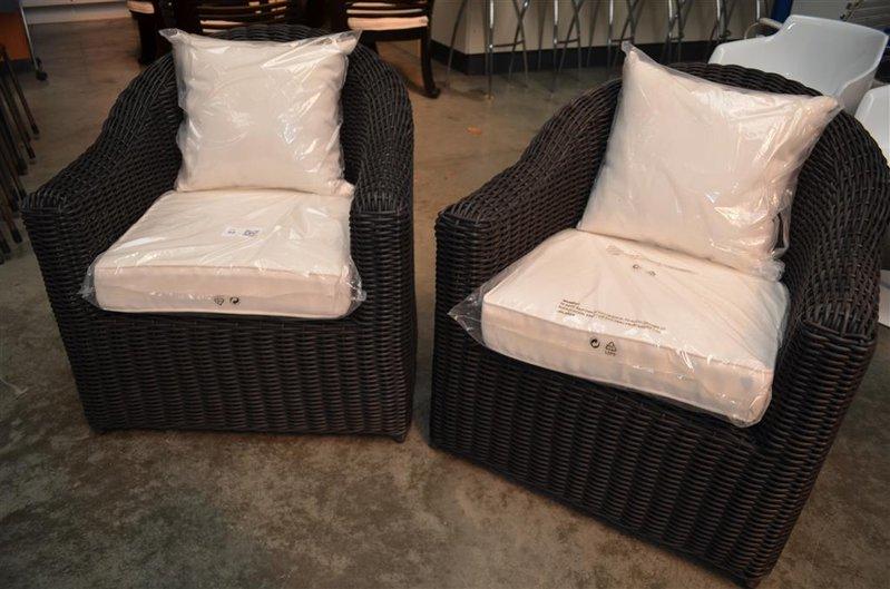 Kussens Voor Stoelen : Loungeset stoelen met kussens zwart kunststof rotan nieuw