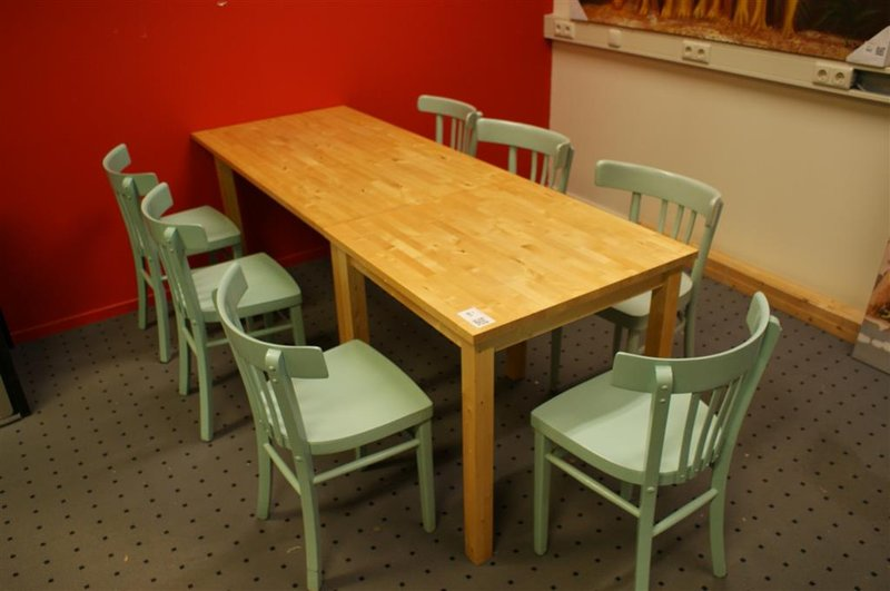 8 Persoons Tafel : Persoons tafel beukenhout stoel onlineauctionmaster