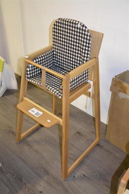 Kinderstoel Wit Hout.Kinderstoel Hout Ook Als Tafel En Stoel Te Gebruiken Stoelverkleiner Cools Bruin Wit Ruit