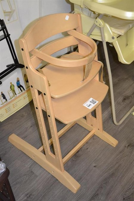 Baby Dan Meegroeistoel.Meegroeistoel Kinderstoel Happy Baby Dan High Chair Hout Kleur Naturel Incl Beugel En Tuigje