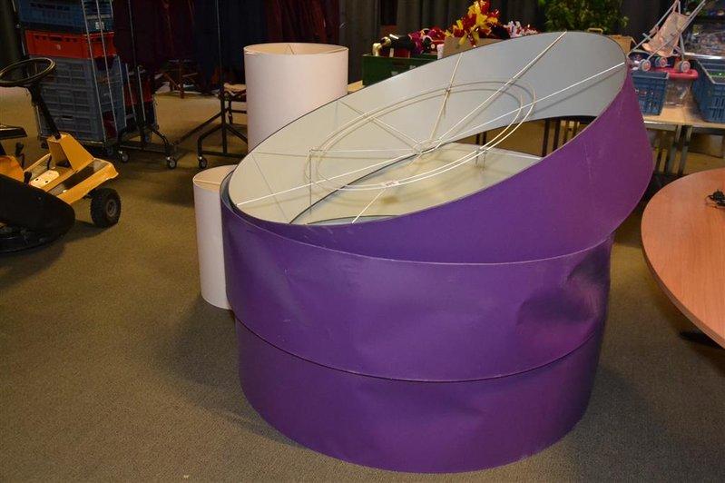 3x Lampenkappen, cilinder, paars, afmeting diameter ca. 140cm