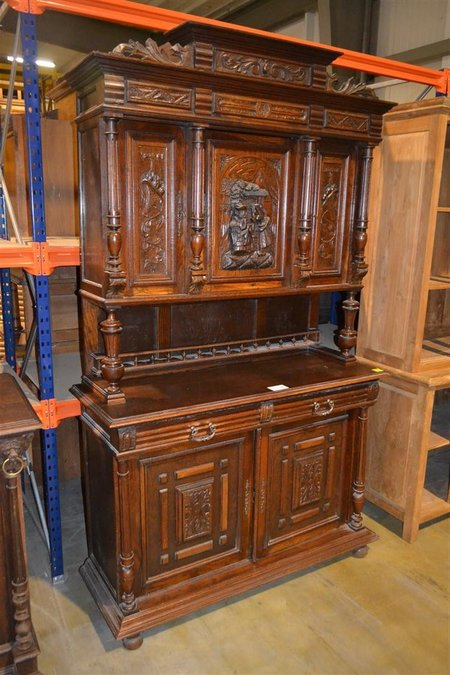 Antieke Franse Kast Met Houtsnijwerk En 5 Deuren Hxb Ca 220x140 Cm