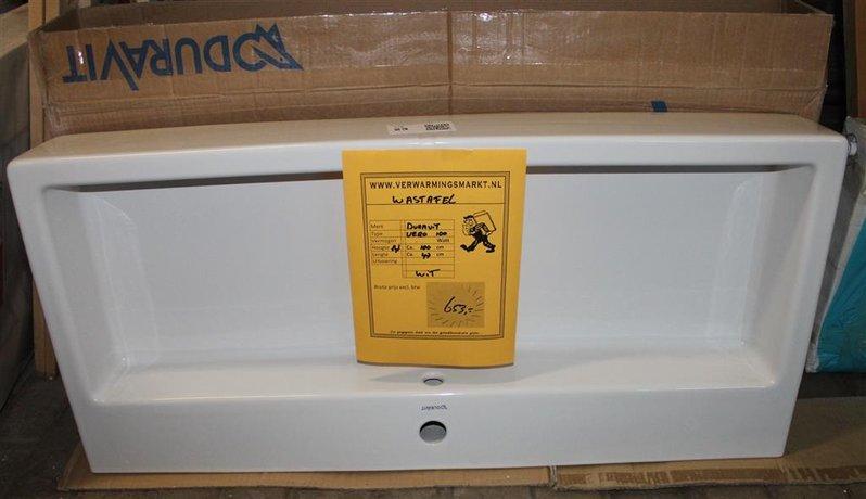 Wastafel duravit vero afmetingen hxbxd ca. 14x100x47 cm met kraangat