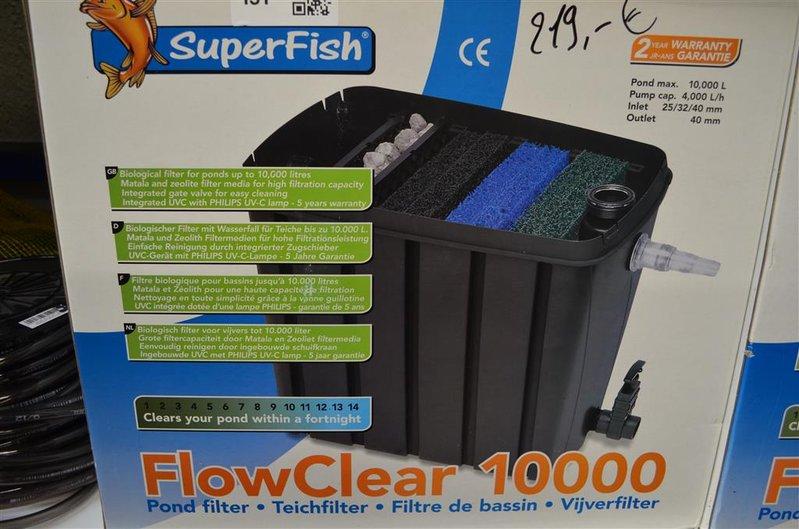 Biologische filter voor vijver superfish flo for Filter voor vijver