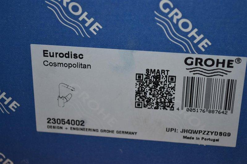 Wastafelkraan grohe eurodisc type 23054002 met waste chroom
