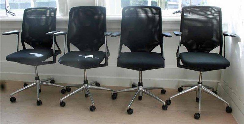 4x bureaustoel vitra meda 2 meda xl zwart. Black Bedroom Furniture Sets. Home Design Ideas