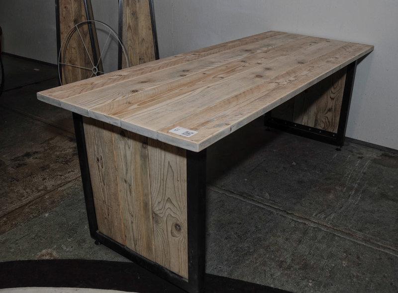 Tafel Stalen Frame : Tafel stalen frame houten blad verlijmd afm hxbxd ca