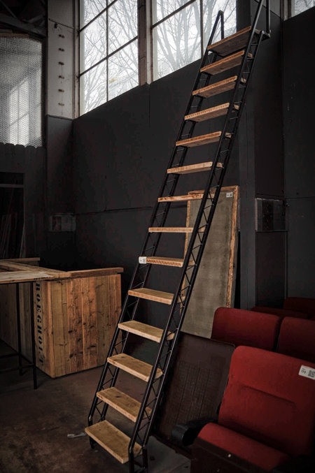 Industri le trap hout staal - Trap ijzer smeden en hout ...