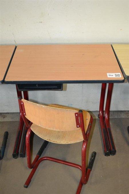 School Tafel En Stoel.Schooltafel Afm Lxbxh Ca 70x50x72cm Gebruikt Stoel Gebruikt
