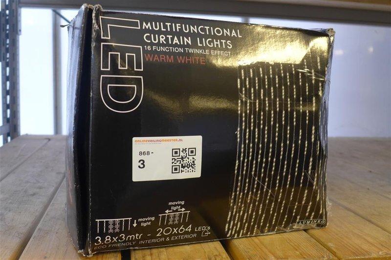 Gordijn LED verlichting Lumineo, 16 functies, kleur warm white