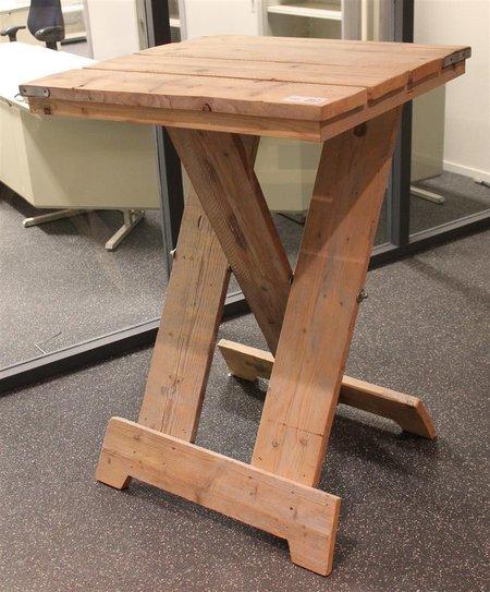 Fonkelnieuw Statafel, steigerhout, inklapbaar, afm. hxbxd ca. 118x81x81cm FL-82