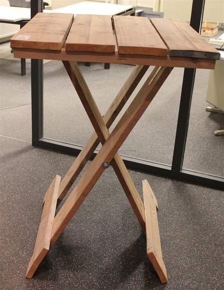 Verbazingwekkend Statafel, steigerhout, inklapbaar, afm. hxbxd ca. 118x81x81cm YJ-11