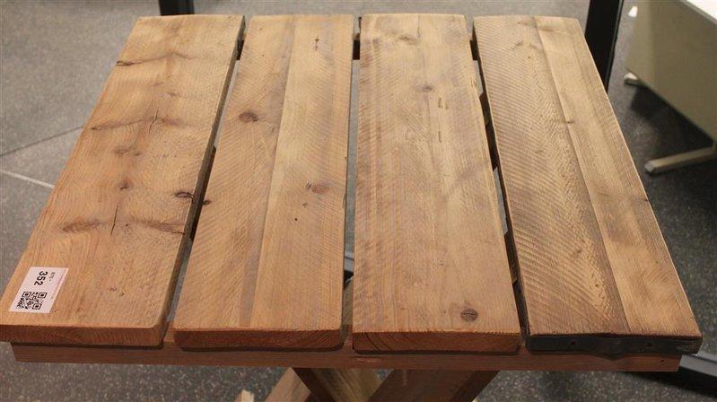 Welp Statafel, steigerhout, inklapbaar, afm. hxbxd ca. 118x81x81cm TI-25