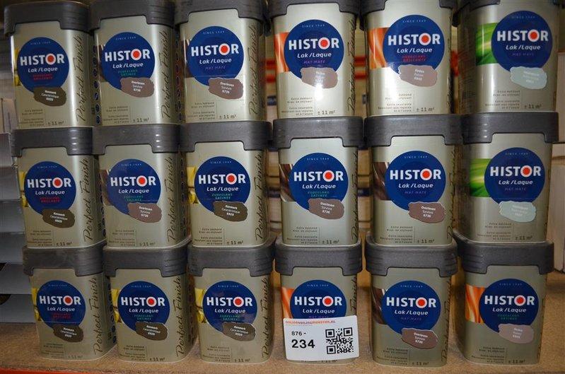 Histor Kleuren Verf.Ca 18x Pot Verf Histor Lak Diverse Kleuren A Ca 11 M Per Pot