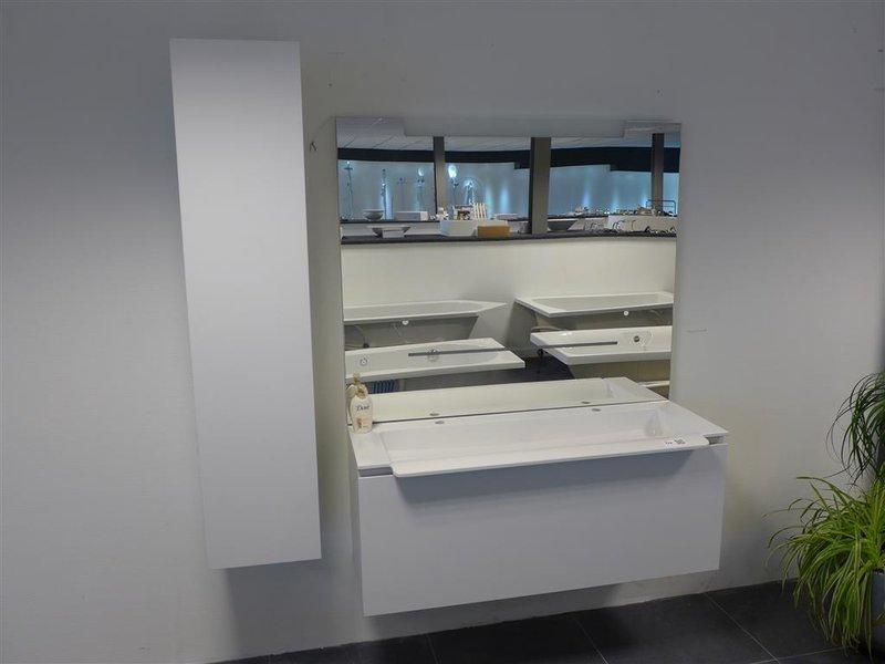 Badkamerkast Met Lamp : Badmeubel burgbad inea bestaande uit: onderkast; wastafel; spiegel