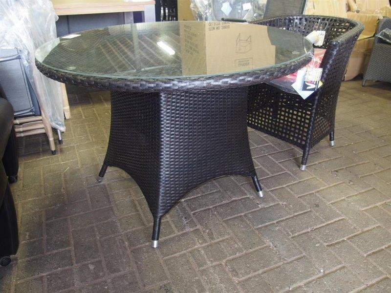 Ronde Aluminium Tuintafel Met Glasplaat.Ronde Tuintafel Garden Impressions Met Glasplaat Doorsnee 108 Cm