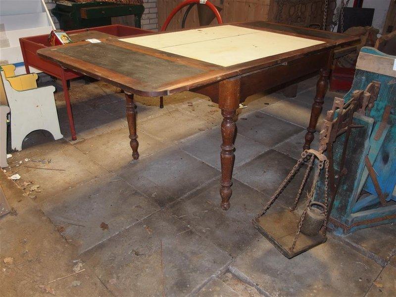 Antieke Uitschuifbare Eettafel.Eettafel Uitschuifbaar Hout Afm Lxbxh Ca 110 185x90x77cm